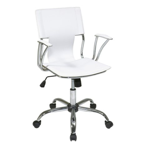Office Star Ave Six Dorado Office Chair, White