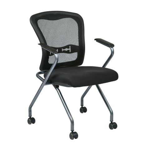 Office Star Pro-Line II Deluxe Folding Chair, Black - 2 pack