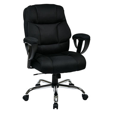 work smart executive big mans chair with mesh seat and back sam s club