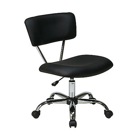 OSP Home Furnishings Vista Task Office Chair in Vinyl, Various Colors