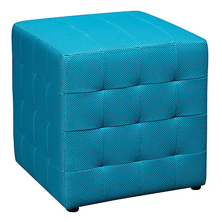 "Ave Six Detour 15"" Fabric Cube - Blue"