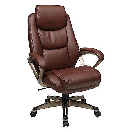 Work Smart Executive Eco Leather Chair - Brown