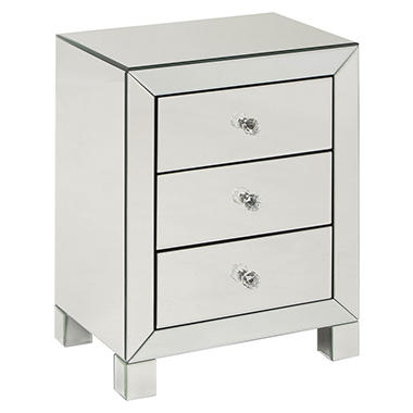 Reflections 3 Drawer Accent Table (Various Colors)