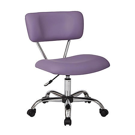 OSP Home Furnishings Vista Task Office Chair in Faux Leather, Various Colors