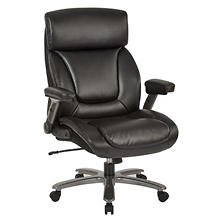 Office Star Executive Chair Big & Tall, Black (Supports up to 450 lbs.)