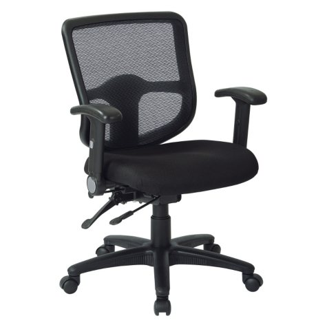 WorkSmart Multi-Function Office Chair, Black