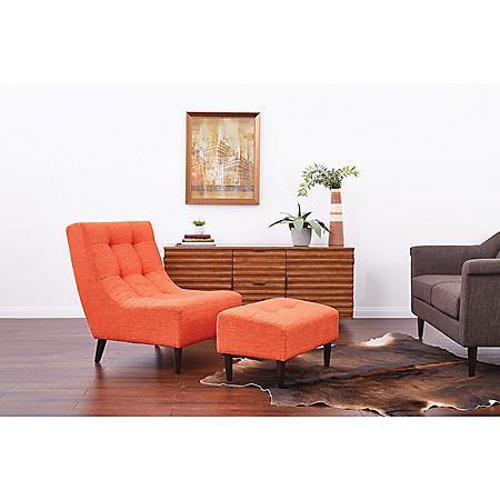 Ave Six, Hudson Chair - Tangerine