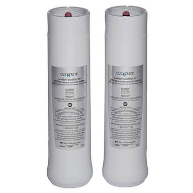 EcoPure Replacement Filter 2-Pack for Reverse Osmosis Premium Drinking Water Filtration System