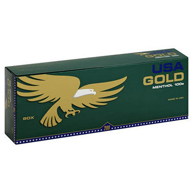 USA Gold Menthol Dark 100s (10/20pk., 200 ct.)