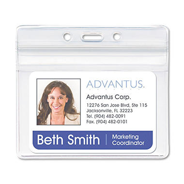 Horizontal Advantus Badge Holder - 50/bx
