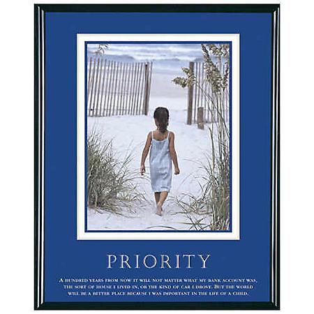 "Priority, Girl - Framed - 24"" x 30"""