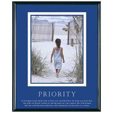 Priority, Girl - Framed - 24