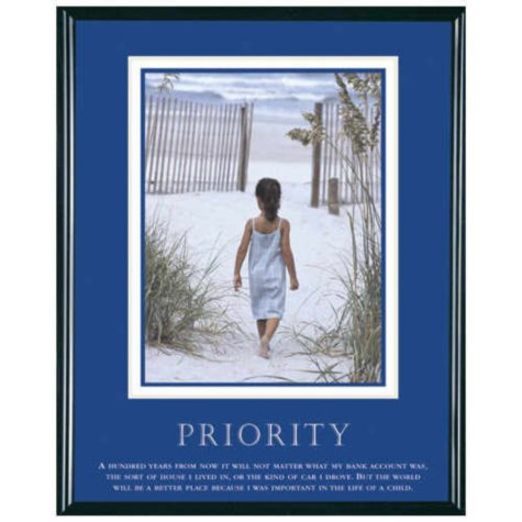 "Priority, Girl - Framed - 24"" x 30"""