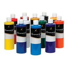 Chroma Chromacryl Premium Acrylic Paint, Pints, Assorted Colors, Set of 12