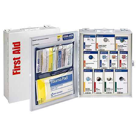 First Aid Only 25 Person First Aid Cabinet with Food Service, Class A