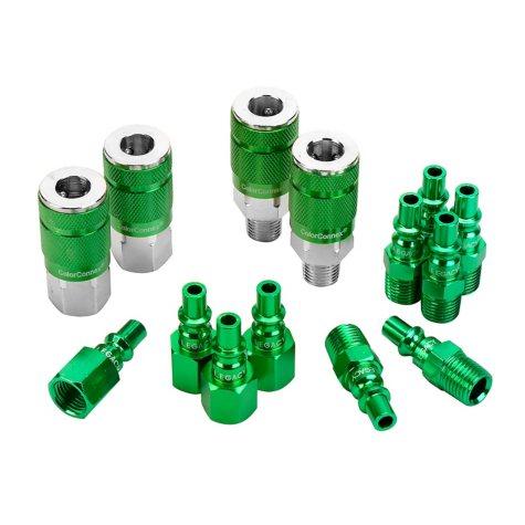 "ColorConnex 14-Piece Coupler & Plug Kit - Type B (1/4"" NPT, 1/4"" Body)"