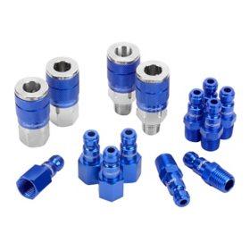 """ColorConnex 14 Piece Coupler & Plug Kit - Type C (1/4"""" NPT, 1/4"""" Body)"""