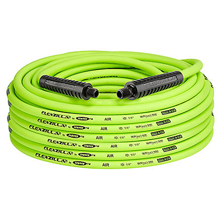 "Flexzilla 1/4"" x 100' Air Hose - 1/4"" MNPT Fittings"
