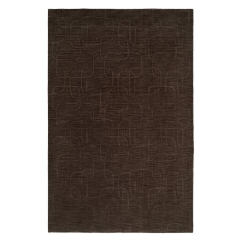 Echo Collection Handwoven Handcarved Wool Area Rug, Pine Bark (Assorted Sizes)