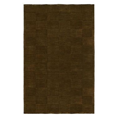 Echo Collection Handwoven Handcarved Wool Area Rug, Sienna (Assorted Sizes)