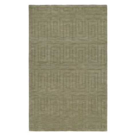 Echo Collection Handwoven Handcarved Wool Area Rug, Stone (Assorted Sizes)