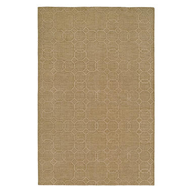 Echo Collection Handwoven Handcarved Wool Area Rug, Topaz (Assorted Sizes)