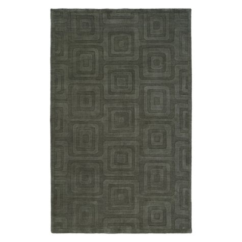 Echo Collection Handwoven Handcarved Wool Area Rug, Slate (Assorted Sizes)