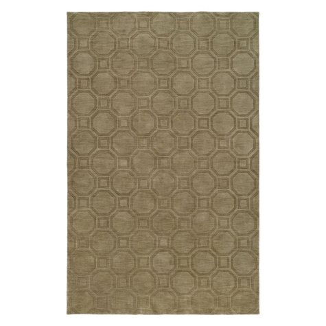 Echo Collection Handwoven Handcarved Wool Area Rug, Smokey Taupe (Assorted Sizes)