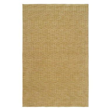 Echo Collection Handwoven Handcarved Wool Area Rug, Sand (Assorted Sizes)