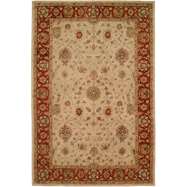 Empire Collection Hand-Tufted Wool Area Rug, Classic Floral