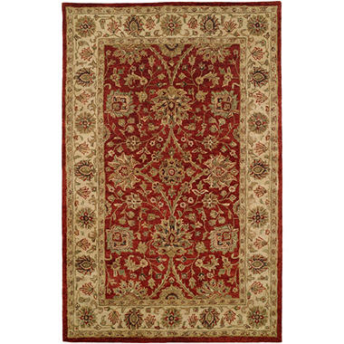 Empire Collection Hand Tufted Wool Area Rug Traditional Fl