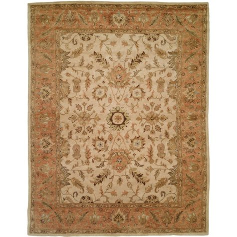 Empire Collection Hand-Tufted Wool Area Rug, Floral Foliage