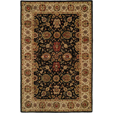 Empire Collection Hand-Tufted Wool Area Rug, Oriental Floral Motif