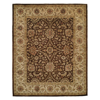 Empire Collection Hand-Tufted Wool Area Rug, Traditional Floral