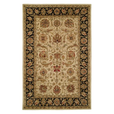 Empire Collection Hand-Tufted Wool Area Rug, Entwined Floral Foliage