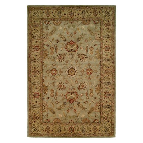 Empire Collection Hand-Tufted Wool Area Rug, Dainty Floral Foliage