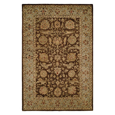 Empire Collection Hand-Tufted Wool Area Rug, Blossoming Floral Foliage