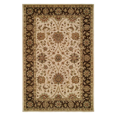 Empire Collection Hand-Tufted Wool Area Rug, Entwined Floral