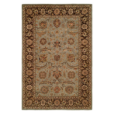 Empire Collection Hand-Tufted Wool Area Rug, Delicate Entwined Floral