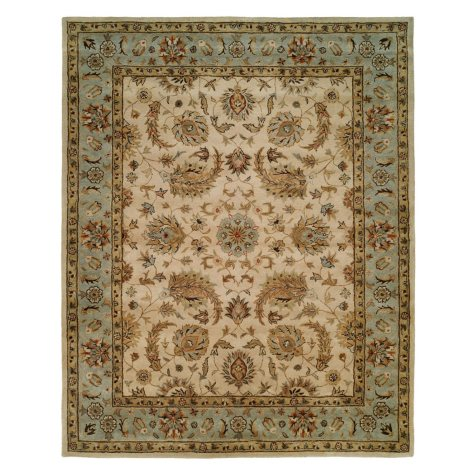 Empire Collection Hand-Tufted Wool Area Rug, Bold Floral Foliage