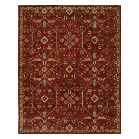 Empire Collection Hand-Tufted Wool Area Rug, Elegant Floral