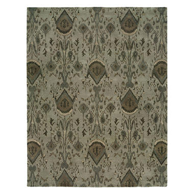 Heirloom Collection Hand-Tufted Wool Area Rug, Transitional Ikat Pattern