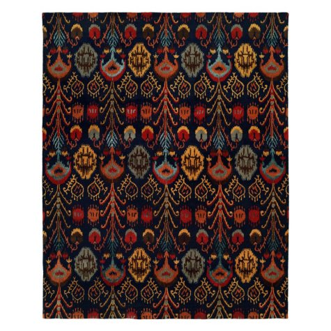 Heirloom Collection Hand-Tufted Wool Area Rug, Exuberant Ikat Pattern