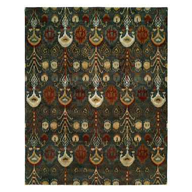 Heirloom Collection Hand-Tufted Wool Area Rug, Bold Ikat Pattern