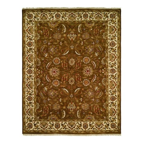 Lateef Collection Handknotted Wool Area Rug, Mocha And Ivory (Assorted Sizes)