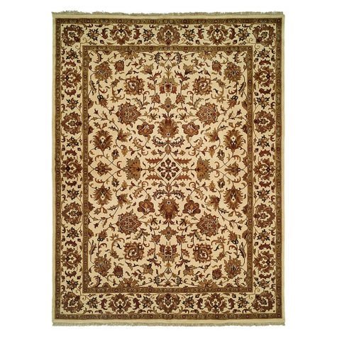 Lateef Collection Handknotted Wool Area Rug, Ivory And Ivory (Assorted Sizes)