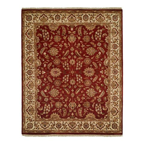 Lateef Collection Handknotted Wool 6' x 9' Area Rug, Antique Rust And Ivory