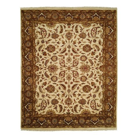 Lateef Collection Handknotted Wool Area Rug, Ivory And Mocha (Assorted Sizes)