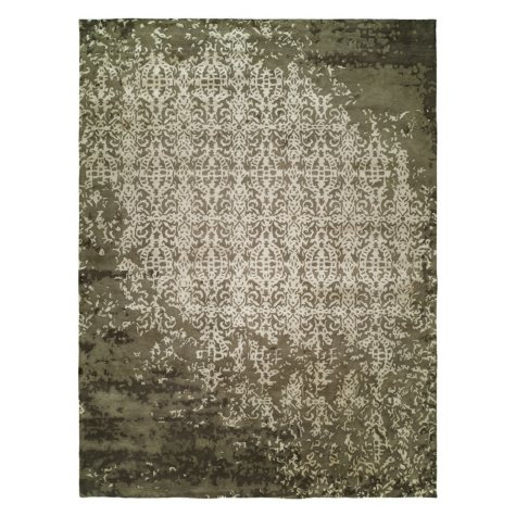 Madison Collection Handtufted Wool And Silkette Area Rug, Shadow Ivory (Assorted Sizes)