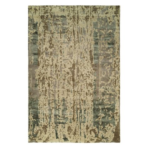 Madison Collection Handtufted Wool And Silkette Area Rug, Shadow Sand (Assorted Sizes)